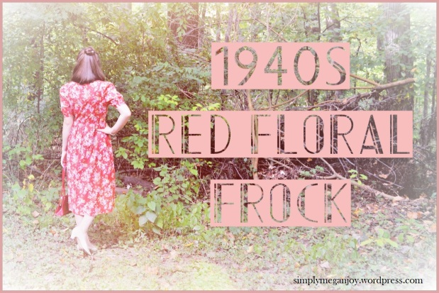 1940s Red Floral Frock - simplymeganjoy.wordpress.com 10