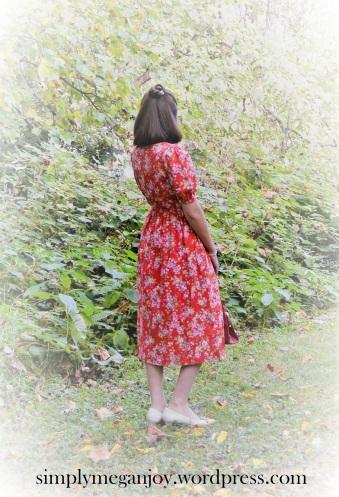 1940s Red Floral Frock - simplymeganjoy.wordpress.com 2