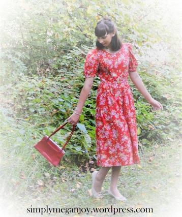 1940s Red Floral Frock - simplymeganjoy.wordpress.com 3