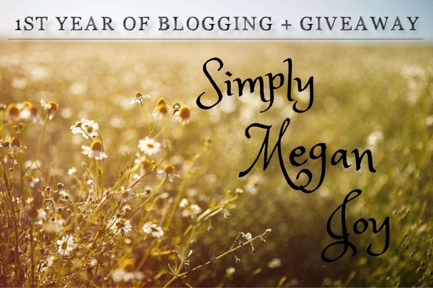 1st Year of Blogging + Giveaway - simplymeganjoy.wordpress.com 1