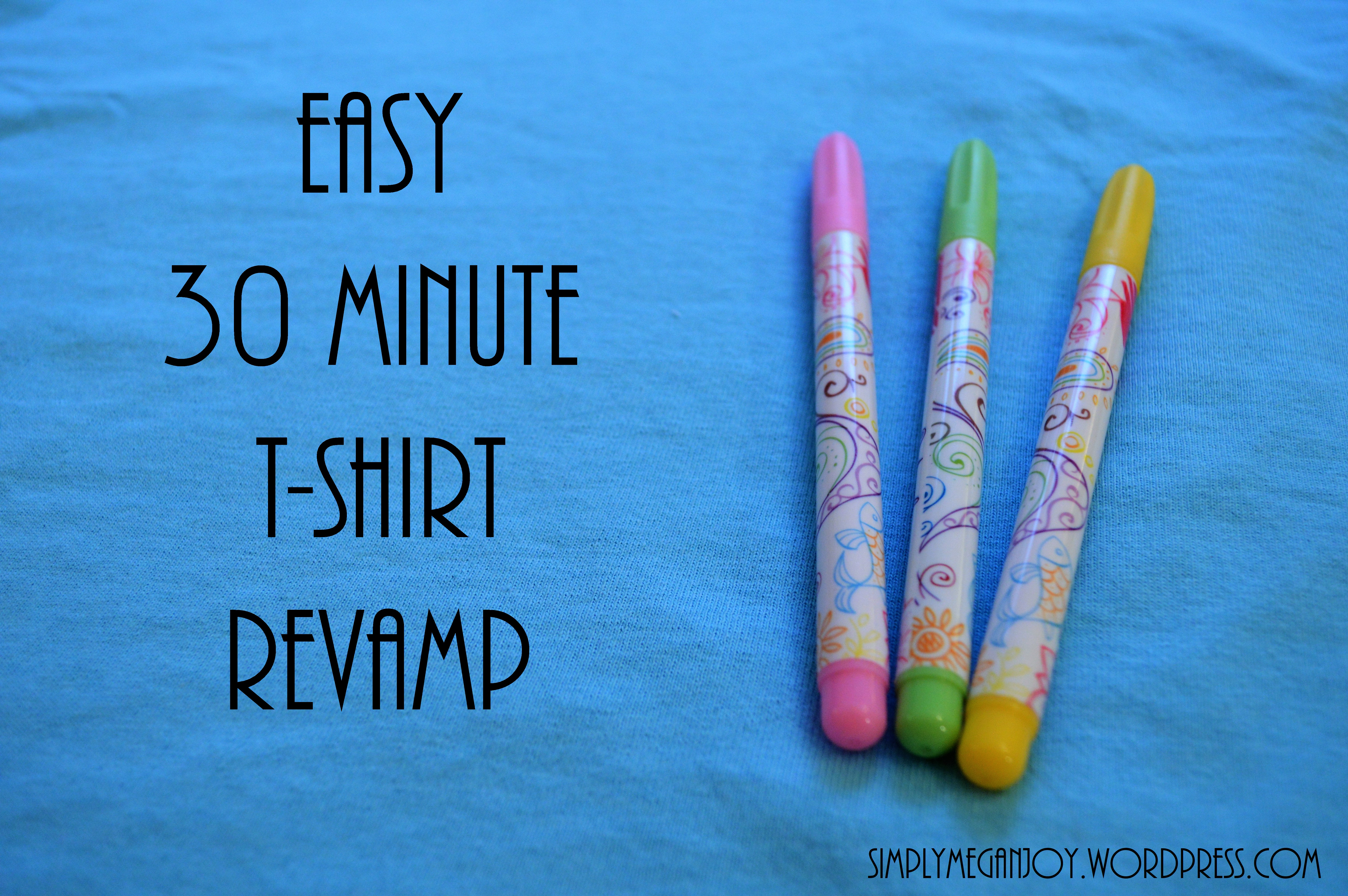Easy 30 Minute T-Shirt Re-vamp - simplymeganjoy.wordpress.com 2