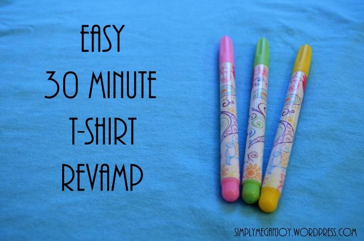 Easy 30 Minute T-Shirt Re-vamp - simplymeganjoy.wordpress.com 2