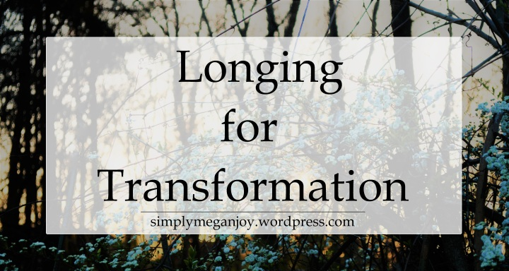 Longing for Transformation - simplymeganjoy.wordpress.com